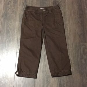Christopher & Banks Brown Cropped Pants